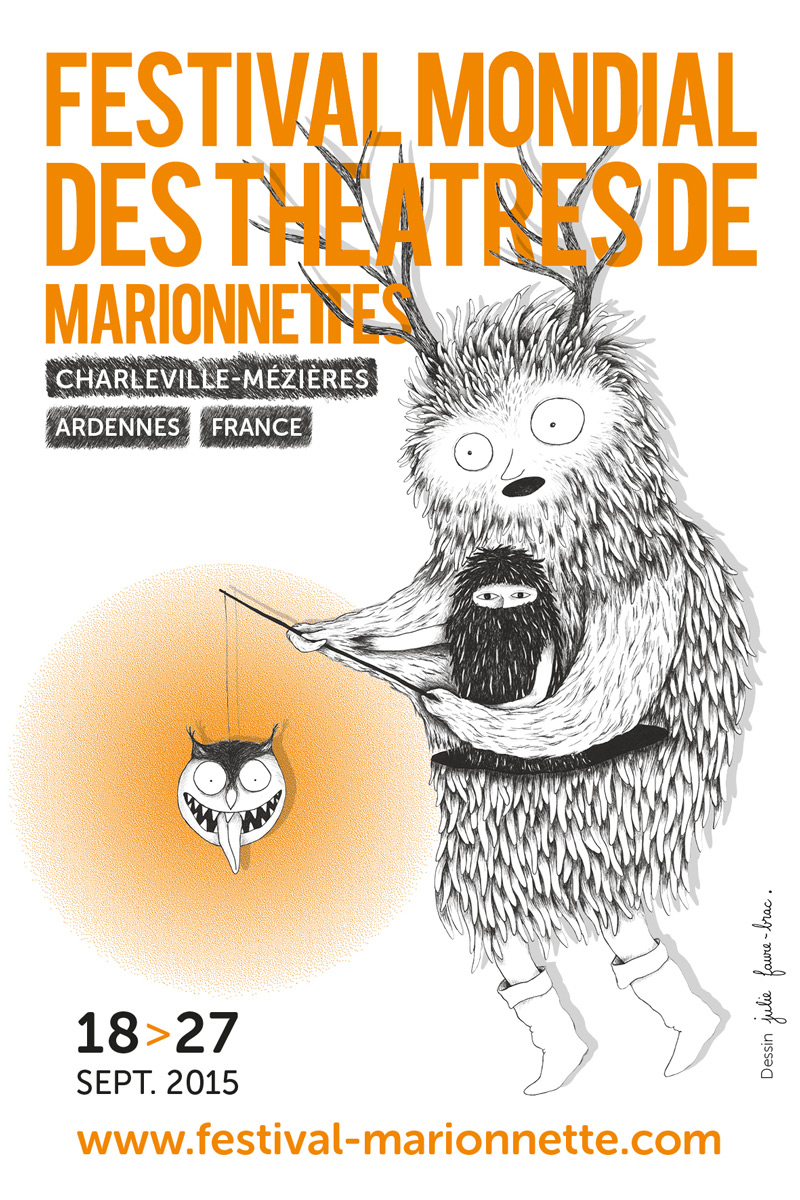Poster of Worldwide Festival of Puppet Theaters from Charleville – Mézières
