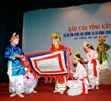 """Preserving and developing all forms of traditional theatrical with the project """"Theatre for Schools""""."""