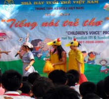 """Developing a professional theatre for children and raising their awareness toward child right in the society with the project """"Children's voice""""."""